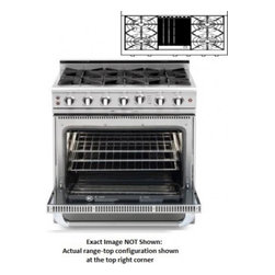 """Capital - Culinarian Series COB362B2-N 36"""" Freestanding Dual Fuel Electric Self-Cleaning R - The Culinarian line features the best in Open Burner technology the functionality of a commercial oven easy to clean open top burners and heavy-duty top grates The COB362B2-N 36 dual fuel electric range features4 open burners 46 cu ft oven capacity C..."""