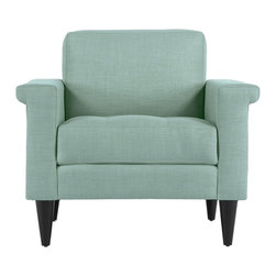 Apt2B - The Coronado Chair, Mint - With its unique arms and sleek shape, the Coronado is a great way to add some personality into any space.Each piece is expertly handmade to order in the USA and takes around 2-3 weeks in production. Features a solid hardwood frame and upholstered in a textured poly-blend fabric.