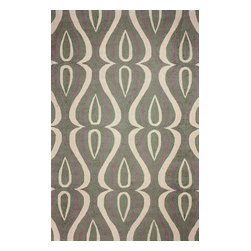 """nuLOOM - Contemporary 7' 6"""" x 9' 6"""" Green Hand Hooked Area Rug UZB53 - Made from the finest materials in the world and with the uttermost care, our rugs are a great addition to your home."""
