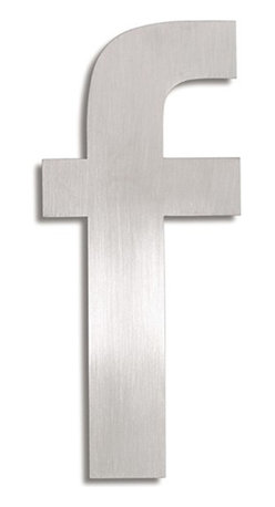 """Blomus - Signo Stainless Steel House Letter - F - Complete your address with a flair using these stainless steel address markers. Choose from letters A through F. A / C / E: 4"""" Tall B / D / F: 6"""" Tall"""
