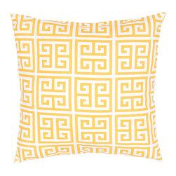 """Jaipur Rugs - Orange/Ivory color polyester towers poly fill pillow 18""""x18"""" - These fashion forward pillows, in trellis, stripes and whimsical patterns are for both indoor and outdoor use."""