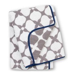 Hollywood Bath Towel - Gray and navy make true love. Put this one in your bathroom.