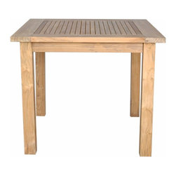 "Anderson Teak - Windsor 35"" Square Table Small Slats - This bistro table is perfect for restaurant, cafe or place where space is limited. Table can be used with any mix and match chairs. It seats two to four people."