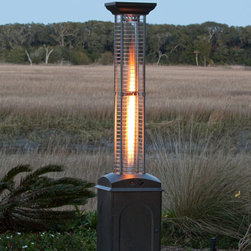Fire Sense - Fire Sense Mocha Finish Square Flame Heater - Our new patented Mocha Finish Square Flame Heater brings a new  dimension to outdoor heating. This stylish unit provides a uniquely  visual flame while providing heat in every direction.� This attractive  piece of patio art will be the focal point of any outdoor setting. This  high quality unit features a tip over protection system for your  safety.� Attached wheels provide easy mobility.