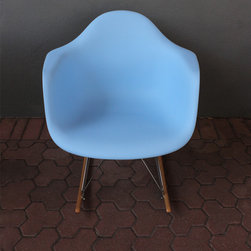 wing rocking chair - blue - please e-mail us at info@redinfred.com for more information + purchasing availability