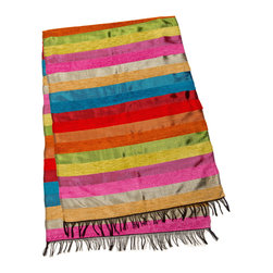 """Moroccan Buzz - Caravan Colors Table Runner - """"Brighten your dining (or any!) room with a versatile, colorful Moroccan table runner. Our luxurious hand-loomed table runners are so beautiful, they've been know to serve as personal accessories - elegant wraps and scarves - too."""""""