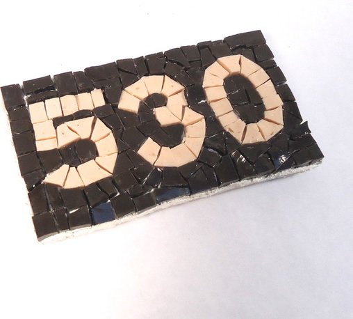 """Mosaic House Numbers - 3"""" h x 5.5"""" w"""