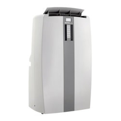 "Danby - Danby 10,000 BTU portable air conditioner - 10,000 BTU air conditioner cools approximately 450 sq.ft., 54 pint capacity per 24 hours with direct drain feature, Environmentally friendly R410A refrigerant, 3 Fan speeds (High _ Med _ Low), Electronic controls with integrated remote and LED display, Automatic on/off: Have the unit start or stop to meet your schedule, Single hoses design, Castors for easy portability, Unit dimensions 16 5/16"" W x 15 15/16"" D x 29 3/16"" H"