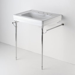 Metal Round Two Leg Single Washstand - I'm not sure if you can buy a more beautiful sink. If you put this into a bathroom, instant classic.