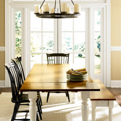 Dining Tables - Classic Farm Table: 6'x3' Light Cherry top with White base, turned legs