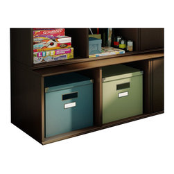 South Shore - South Shore Stor It Open Storage Base in Chocolate - South Shore - Storage Cabinets - 5059775 - This open storage base from the Stor It collection in Chocolate finish has two cubes designed to maximize storage in all the rooms of your house. Its curved lines and minimalist design are typical of the transitional style that matches any decor so well. Match it up with other pieces from the Stor It collection to create your own storage solution.Features: