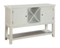 Standard Furniture - Standard Furniture Regency White 52 Inch Server in White - Regency features a unique blend of design elements borrowed from across the ages, with an updated simplicity and clean white finish for today�_����s casual lifestyle.