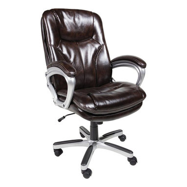 Serta by True Innovations - Serta Office Chair in Puresoft Brown Faux Leather - Serta by True Innovations - Office Chairs - 43502 - About This Product: