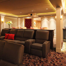 Traditional Home Theater by Knight Architects LLC