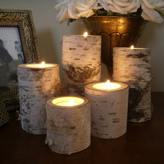 traditional candles and candle holders by Etsy