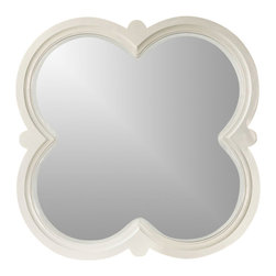 "Hooker Furniture - Hooker Furniture Melange Quatrefoil Mirror - Crafted with resin and mirror the Quatrefoil Mirror will add a touch of grace to your bedroom. Resin and Mirror. Dimensions: 43.25""W x 1.5""D x 43.25""H."