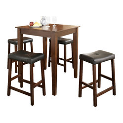 5-Piece Pub Dining Set, Tapered Leg