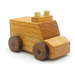 Happy Bungalow - Wooden Ambulance Play Toy - Someone needs help! Lights and Sirens On! To the rescue!
