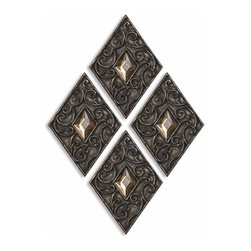 "12768 Vidalia Diamonds, S/4 by Uttermost - Get 10% discount on your first order. Coupon code: ""houzz"". Order today."