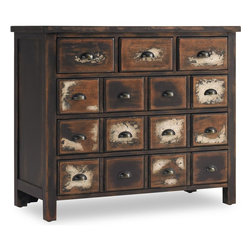 """Hooker Furniture - Hooker Furniture Hampton Court Six-Drawer Chest - Crafted from hardwood solids and birch veneers the Hampton Court Six-Drawer Chest has a unique look that is sure to enhance your home. Hardwood Solids, Birch Veneers. Dimensions: 42""""W x 18""""D x 35.5""""H."""