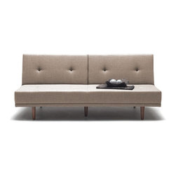 NYFU - Limber Three Seater Sofa Bed - Beige - 90�, 135� and 180� all in one! Use this flexible sofa however your back desires.