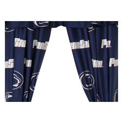 College Covers - NCAA Penn State Nittany Lions Collegiate Long Window Drapes - Features: