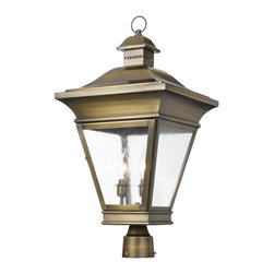 Elk - Outdoor Post Lantern Reynolds Collection in Solid Brass in a Oiled Rubbed Brass - Outdoor post lantern Reynolds collection in solid brass in a oiled rubbed brass finish
