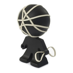 J-Me - Rafael Rubber Band Holder - This dutiful rubber-band holder makes for a dependable office assistant. He's got a head for flexibility, he's always holding things together — and although he doesn't adhere to your dress code — his style is pretty snappy.