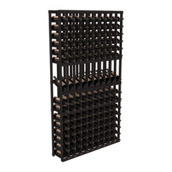 Wine Racks America - 10 Column Display Row Wine Cellar Kit in Redwood, Black Stain - Make your 10 best vintages the focal point in your wine cellar. Display rows allow presentation of favored labels and encourages simple cellar organization. Our wine cellar kits are constructed to industry-leading standards. You'll be satisfied. We guarantee it.