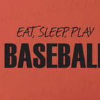 Decals for the Wall - Wall Decal Sticker Quote Vinyl Art Ear Sleep Play Baseball Boy's Sports Room S14 - This decal says ''Eat, Sleep, Play Baseball''