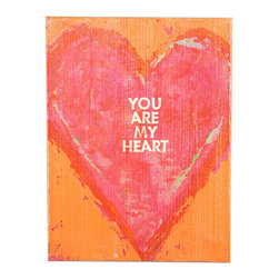 Swoon Wall Panel You Are My Heart - The Swoon wall panel is ready to go with its sweet message of love. Featured in four different delightful designs, this wall panel is a cheerful, romantic accessory that can be leaned against a wall or bookshelf or hung on the wall. Grouped in a frame gallery, or alone, this art piece is a lovely addition to any d�cor. Treat yourself or gift it to the one you love, this wall panel is a sweet declaration any day.