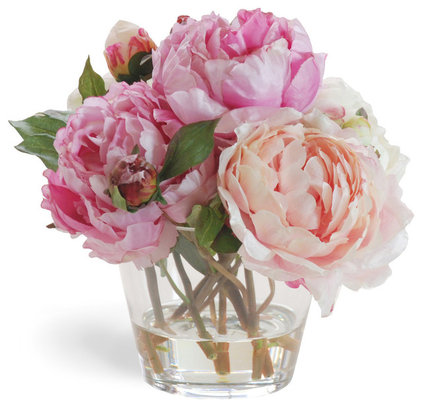 Contemporary Plants Pretty in Pink Peonies