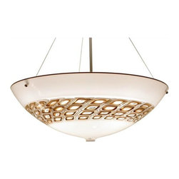 Bel Vitro - Square Murrini Pendant Bowl Chandelier - Simply beautiful, this Square Murrini Bowl Pendant will infuse your space with soft elegant light. The design offers the ability to choose two colors, one for the body of the pendant and one for the Murrini.