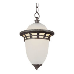 Trans Globe Lighting - Trans Globe Lighting Traditional Outdoor Hanging Light X-PA 3115 - This beautiful hanging pendant light fixture by Trans Globe Lighting is sure to be a chic, stylish addition to any room. The Frosted glass shade emits a brilliant quality of light, complemented by the simple, geometric metalwork.