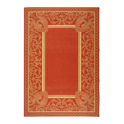 Safavieh - Safavieh Indoor/ Outdoor Abaco Red/ Natural Rug (5'3 x 7'7) - Protect your wood or tile floor from damage while adding to the d�cor of your home inside or out with this all-weather polypropylene rug. This red rug with natural accents will stand out from the surrounding d�cor adding a bit of elegance to your decor.