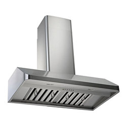 Kobe - Kobe CH9142SQB-WM-1 42W in. CH191 Series Wall Mounted Range Hood Multicolor - CH - Shop for Hoods and Accessories from Hayneedle.com! Sleek beveled edge makes this hood the jewel of your kitchen remodelQuietMode setting allows hood to operate at 300 CFM at a reduced sound level of 40 decibels (1.0 sone); other hoods operate at 6-8 sones at that CFM levelTime Delay System with 3-minute delay shutoff or immediate shutoffECO Mode runs the fan on the QuietMode setting for 10 minutes every hour removing excess moisture and microscopic particles that cause odors for cleaner fresher kitchen airTwo 3W LED lights with 3-level lighting for a bright safe cooking experienceEfficient blower with twin vertical turbine impellerEasy-to-empty catch areas and smooth hood surface for deep cleaning without disassembling the hoodDucting options: Top 6-inch round Top 3.25 x 10 in. rectangular or Rear 3.25 x 10 in. rectangularFits ceilings up to 9.5 ft. highAbout KOBE Range HoodsA world leader in quiet kitchen ventilation Kobe Range Hoods are designed by the Japanese-based Tosho & Company Ltd. Their products feature revolutionary QuietMode technology inspiring their motto: So Quiet You Won't Believe It's On! The result of extensive research and development the innovative QuietMode feature allows you to operate your range hood without irritating fan noise while cooking or entertaining guests in the kitchen. Kobe Range Hoods has been providing quality products and exceptional customer service in the United States and Canada for over 40 years.