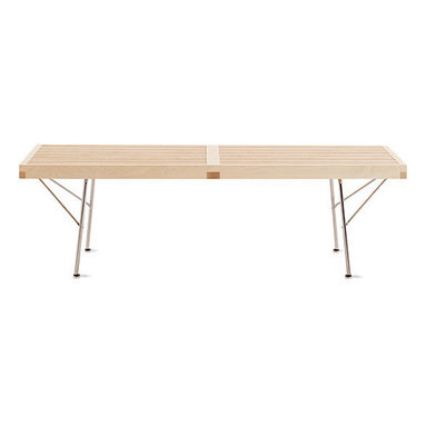 Nelson Platform Bench, Metal Leg - For the simple, modern sensibility in you, here's a bench that is literal.