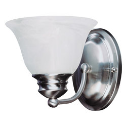 Malaga EE-Wall Sconce - The energy saving Malaga EE collection is finished in choice of Satin Nickel or Oil Rubbed Bronze completed with Marble glass. Fixtures include energy efficient, long lasting and low maintenance compact fluorescent bulbs, with select fixtures being Energy Star certified.