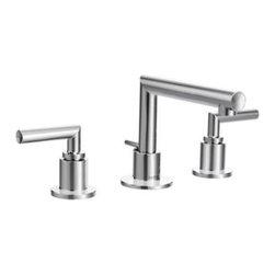 Moen - Moen Arris Two-Handle Widespread Bathroom Faucet, Chrome (TS43002) - Moen TS43002 Arris Two-Handle Widespread Bathroom Faucet, Chrome