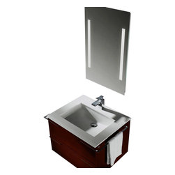 Vigo - Vigo 31-inch Single Bathroom Vanity with Mirror and Lighting System - Try something new with this contemporary Vigo bathroom vanity. No other brand can match Vigo's style, quality and design.