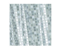 Croydex - Mosaic Silver Shower Curtain - Manufacturer SKU: AE543440YW. Fully Waterproof material. Easy to Clean. Ready to hang with 12 tear resistant heavy duty eyelets. 70.87 in. W x 70.87 in. HOur extensive range of 100 % waterproof shower curtains offers a numerous choice of color, material, size and style. Select with the knowledge that quality will always be of the highest standard. complimenting your bathroom which ever style you choose.
