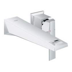 """GROHE - Grohe Allure Brilliant 2-Hole Wall Mount Vessel Trim - Starlight Chrome - Features 8 1/4"""" Spout/Aerator Reach Solid Brass Construction Lever Handle Requires Vessel Rough-In Valve 23 254, sold separately Flow Rate 1.5 gpm (5.7 L/min) Code Compliance ASME/ANSI A112.18.1M ANSI/NSF Standard 61 CSA Standard B125.1-05 ADA Compliant View Spec Sheet"""