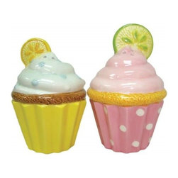 Westland - 3.25 Inch Colorful Lemon and Lime Cupcakes Salt and Pepper Shakers - This gorgeous 3.25 Inch Colorful Lemon and Lime Cupcakes Salt and Pepper Shakers has the finest details and highest quality you will find anywhere! 3.25 Inch Colorful Lemon and Lime Cupcakes Salt and Pepper Shakers is truly remarkable.