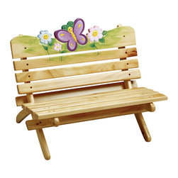 Teamson Design - Teamson Kids Magic Garden Outdoor Bench - Teamson Design - Kids Chairs - TD0026A. Our New Outdoor Collection Magic Garden Bench is perfect for any child to read their favorite book enjoy their handheld toys or just sit back and relax in the comfort of their very own bench. The best part is that the unique finish on this collection allows the bench to be used outdoors.