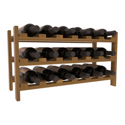 Wine Racks America - 18 Bottle Stackable Wine Rack in Redwood, Oak Stain + Satin Finish - Expansion to the next level! Stack these 18 bottle kits as high as the ceiling or place a single one on a counter top. Designed with emphasis on function and flexibility, these DIY wine racks are perfect for young collections and expert connoisseurs.