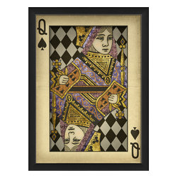 """The Artwork Factory - """"Queen of Spades"""" Print - Your house isn't full until you add a little royalty to your walls. This museum quality print would look great in your bar or family room. Or hang it in your dressing area to show you're queen of your castle."""