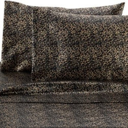 Scent-sation, Inc. - Satin Luxury Leopard Sheet Set - Wrap yourself in the silkiest satin you'll ever feel. These Satin Luxury sheet sets feature a micro-denier woven fabric and are as beautiful and complementary to your bedroom decor as they are comfortable.