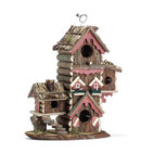 "KOOLEKOO - Gingerbread-Style Birdhouse - This multi-level birdhouse ""condo"" offers lovable lodgings for several avian households."