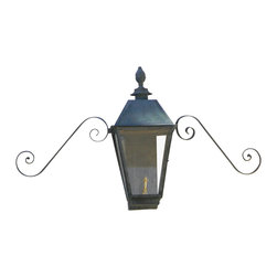 St. James Lighting - Magnolia Large Copper Wall Mount Single Candelabra Lantern - Magnolia Large Copper Wall Mount Single Candelabra Lantern. The Magnolia Lantern offers style and elegance to any entryway! Its beautiful rustic finish along with an old world style presents a welcoming feeling. With glass on all sides, this lantern has the ability to cast 360 degree light. You can even choose to have a glass or solid top! A tasteful cap adorns the top for a finishing touch. With all different mounting options, you can choose from several unique displays to create a look all your own!