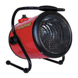 World Marketing - Seasons Comfort Fan Heater 240V 1500Watts - Seasons Comfort Forced Air Work Horse. Dura Heat powerhouse 240 Volt/13,650 BTU heater on adjustable stand. Provides lots of heat in an instant. Compact design and heay duty construction makes this heater a true workhorse.